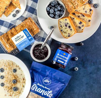 Blueberry Breakfast Blonde Brownie