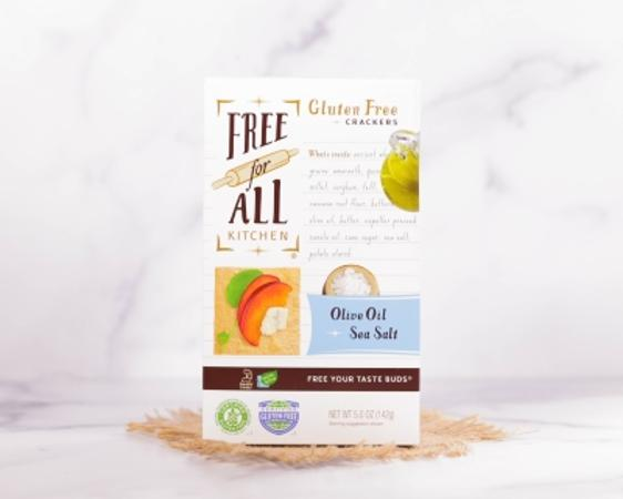 Free for All Olive Oil and Sea Salt Gluten Free Crackers