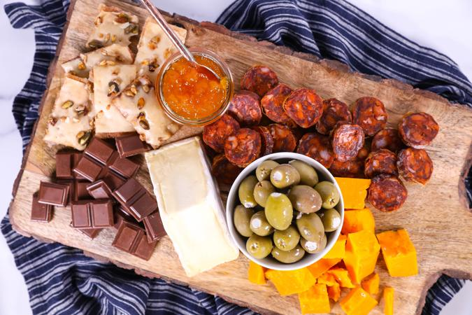 European Picnic Cheese and Charcuterie
