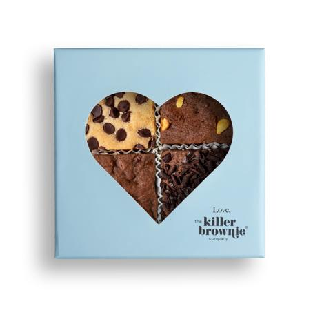 From the Heart Gift Box - Killer Brownie Best Sellers with Cookie Dough, Original, Peanut Butter and Salted Caramel