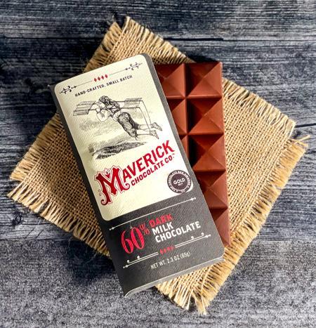 Maverick Chocolates 60% Dark Milk Chocolate