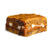 pumpkin Killer Brownie with caramel and white chocolate chips