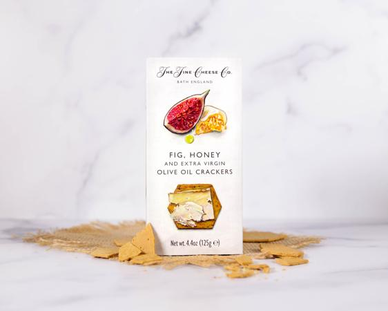 The Fine Cheese Co Fig, Honey and Extra Virgin Olive Oil Crackers