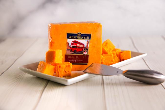 Westminster Rustic Red Cheddar from Great Britain